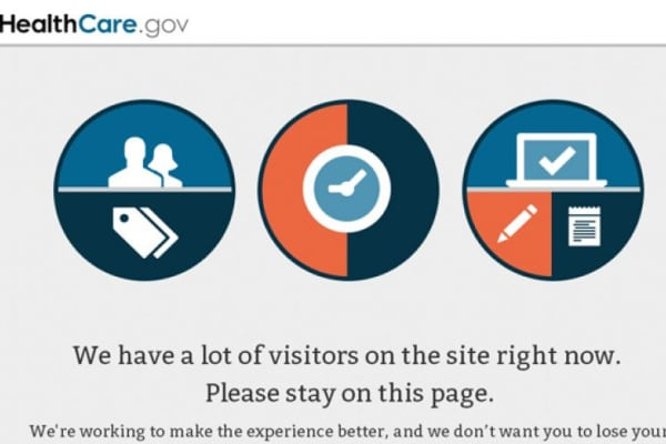 HealthCare.gov website experiencing outage.