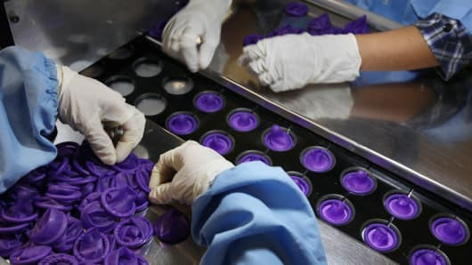 Karex Industries condom factory in Pontian Besar, Johor, Malaysia.