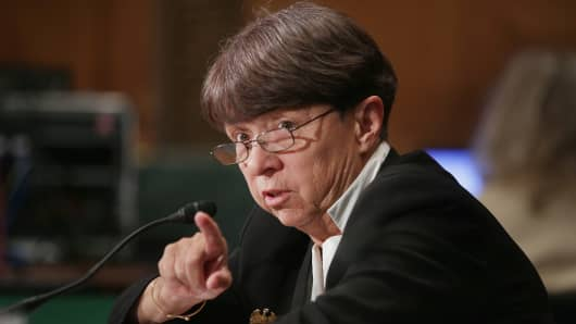 Securities and Exchange Commission Chairman Mary Jo White.