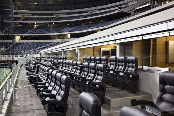 Dallas Cowboys field level suites.