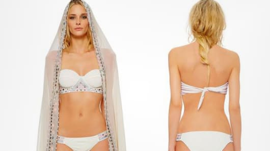 Bridal swimsuit by Mara Hoffman