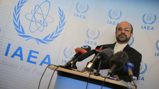 Iran's ambassador to the International Atomic Energy Agency, Reza Najafi.