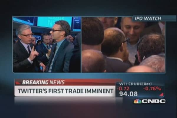 Twitter's first trade: $45.10