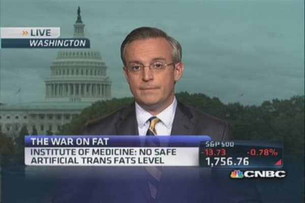 FDA says not to trans fats