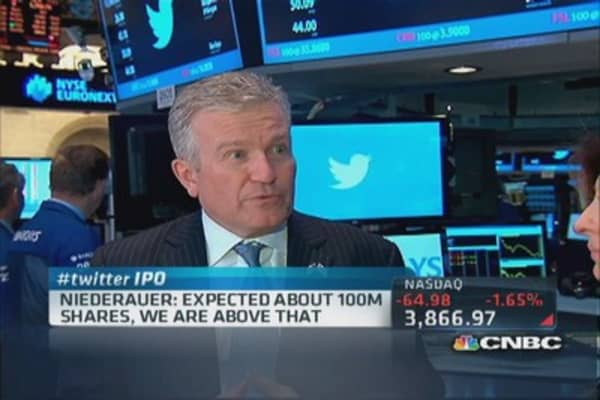 Good day for Twitter, good day for markets: Niederauer