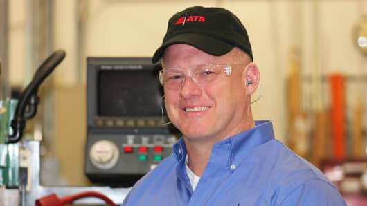 After a Navy career, Dave Collins—adept at handling a variety of technical machinery—found a natural fit working in America's manufacturing plants.