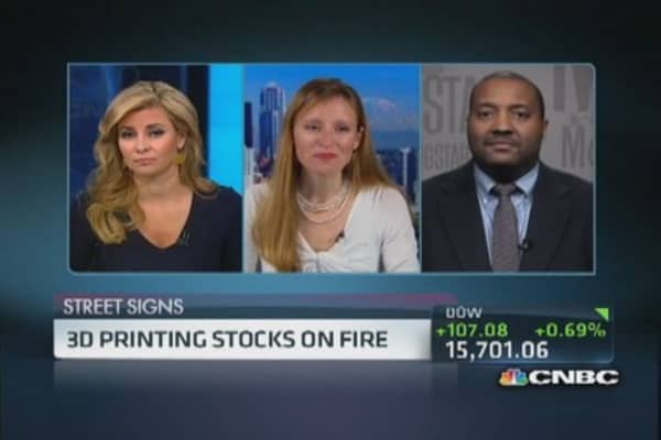 3D printing stocks on fire