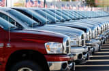 2008 Ram pickup trucks sit at a Dodge dealership