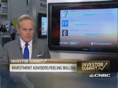 Investment advisers feeling bullish