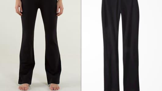 Lululemon $98 yoga pants versus Target's $14.99 yoga pants