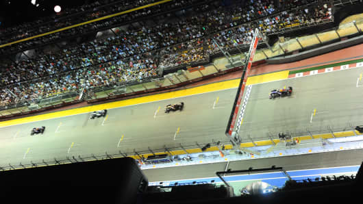 Formula One Singapore Grand Prix on September 22, 2013.