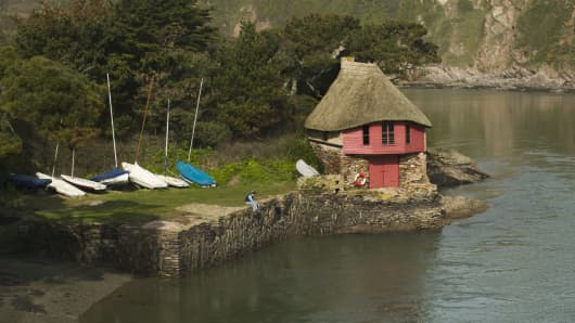 The boathouse at Bantham, U.K.