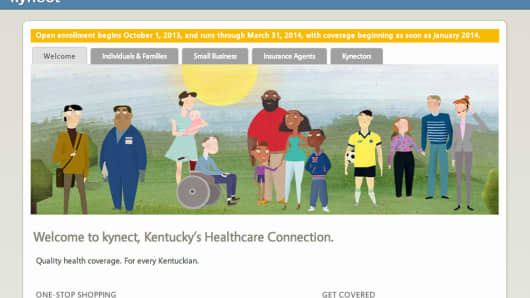 Kentucky's health exchange website Kynect.