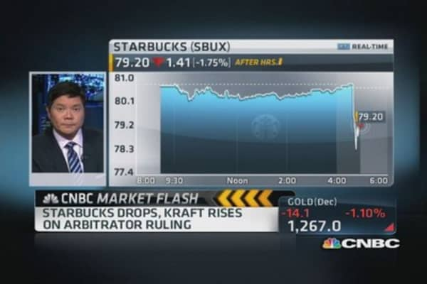 Arbitrator rules Starbucks to pay $2.23B to Kraft