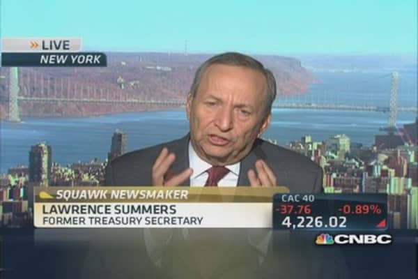 Fed's policy needs to focus on spurring growth: Larry Summers