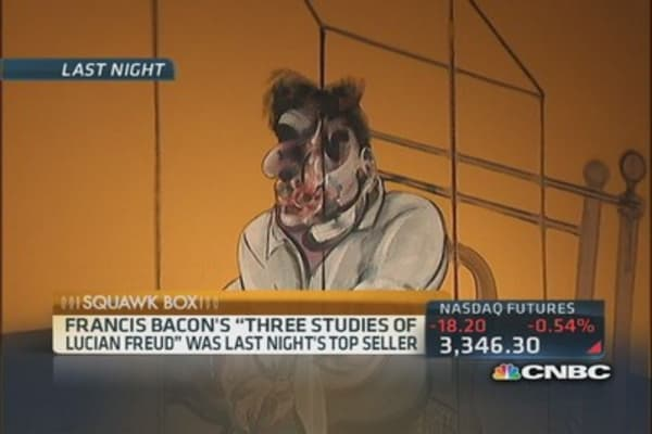 Francis Bacon's painting auctions for $142.2 million