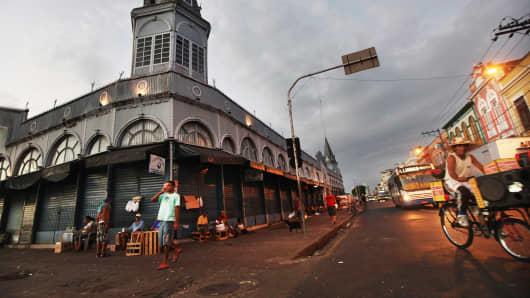 Street scene in Belem, Brazil