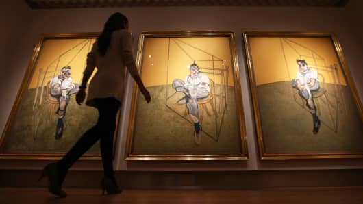 "Francis Bacon's ""Three Studies of Lucien Freud"""