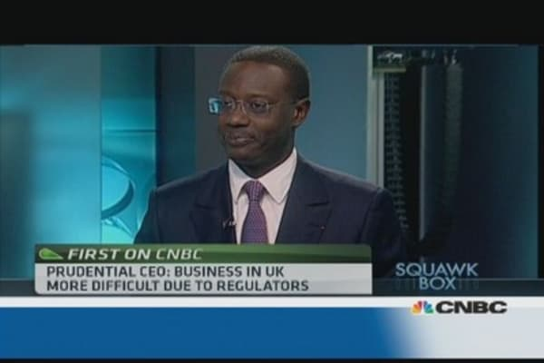 Don't expect spin off of Asia business: Prudential CEO