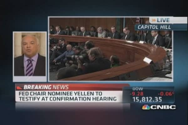 Fed Chair nominee Yellen to testity