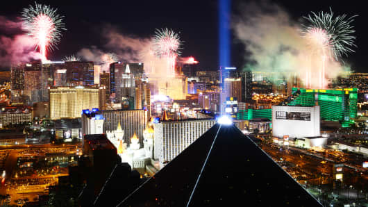 Las Vegas on New Year's