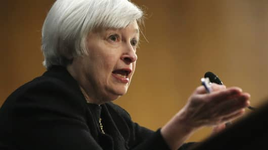Federal Reserve Chair nominee Janet Yellen testifies during her confirmation hearing Nov. 14.