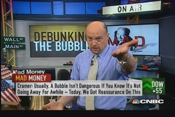 Relative valuation, not absolute valuation: Cramer