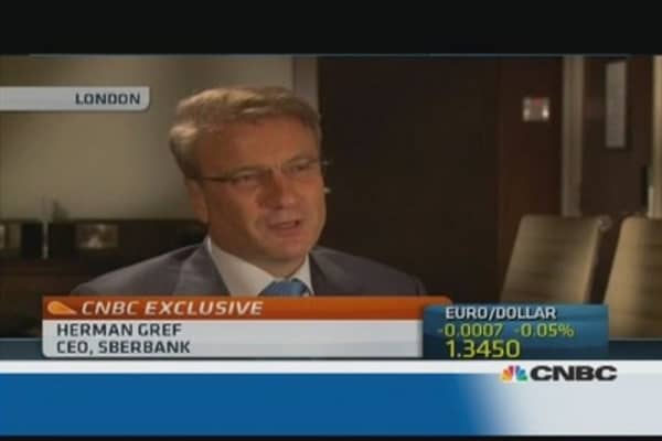 Problems 'everywhere' in Russian economy: Sberbank CEO