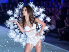 Model Lily Aldridge walks the runway at the 2013 Victoria's Secret Fashion Show.