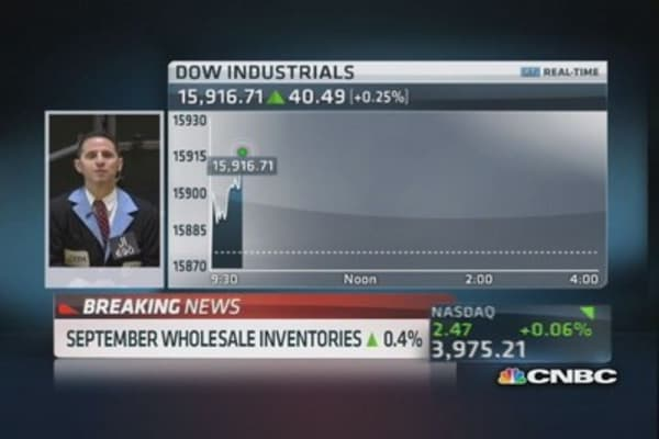 September wholesale inventories rise