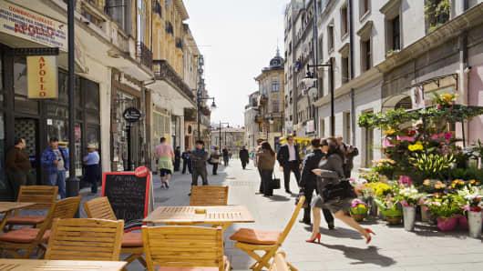 Lipscani Quarter, Bucharest, Muntenia, Romania