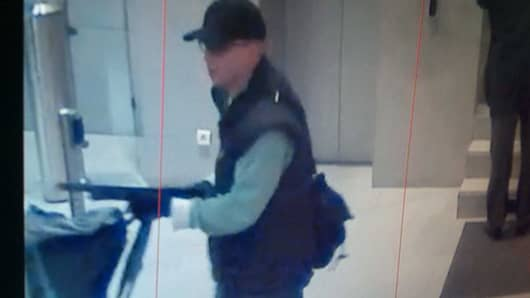 An image of the suspect released by Paris police