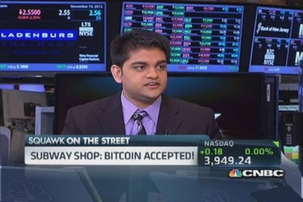 Subway franchisee accepting bitcoin