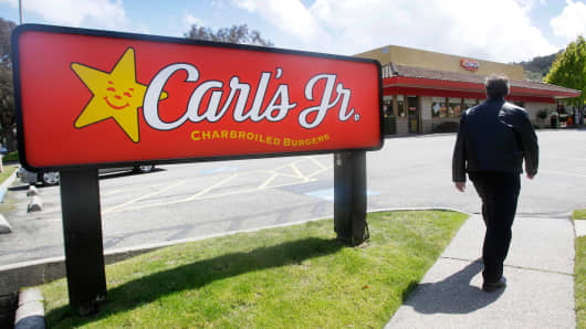 A Carl's Jr. restaurant in San Bruno, Calif.