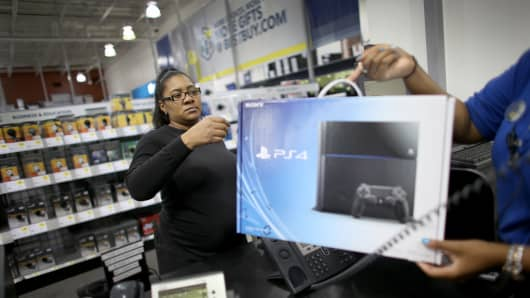 A customer purchases a Sony Playstation 4.