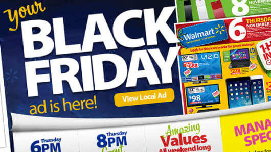 Black Friday ad for Wal-Mart