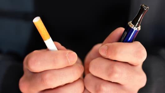 Tobacco cigarette versus e-cigarette.
