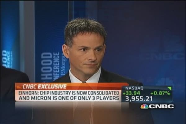 Einhorn's new best idea: Micron