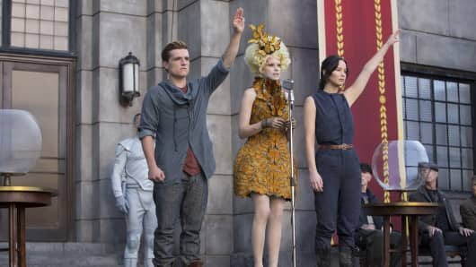 Scene from Catching Fire