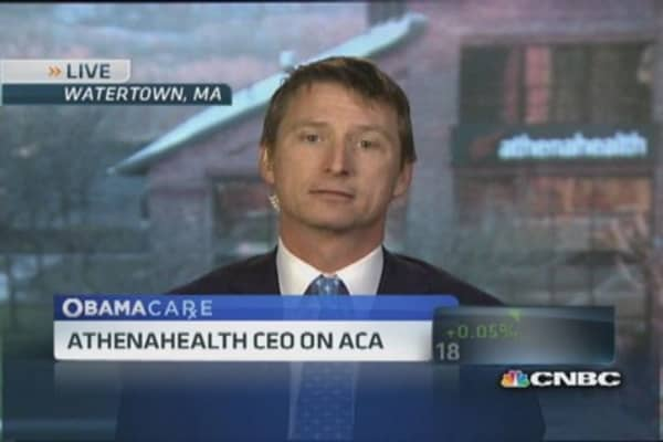 Athenahealth CEO: ACA doesn't feel like 'true marketplace'