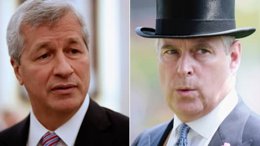 Jamie Dimon to meet with Prince Andrew, Duke of York.