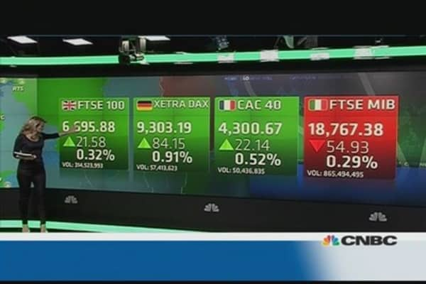 Europe shares close higher