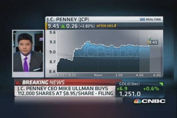 JCP's Ullman buys 112,000 shares