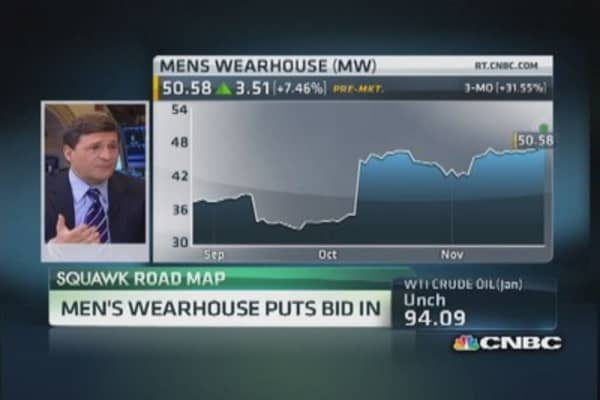 Men's Warehouse bids on Jos. A. Bank