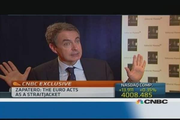 The euro was a 'straightjacket': Zapatero