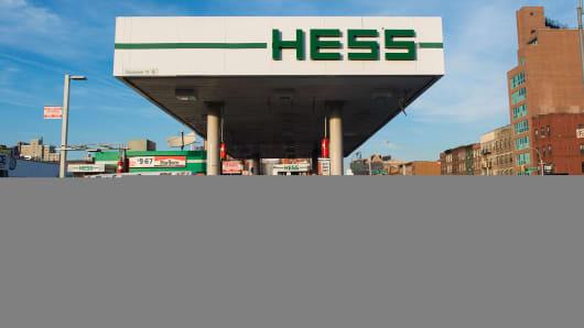 A Hess gas station in Brooklyn, N.Y.
