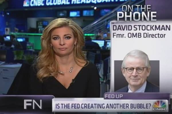 David Stockman: There's a worldwide bubble in stocks