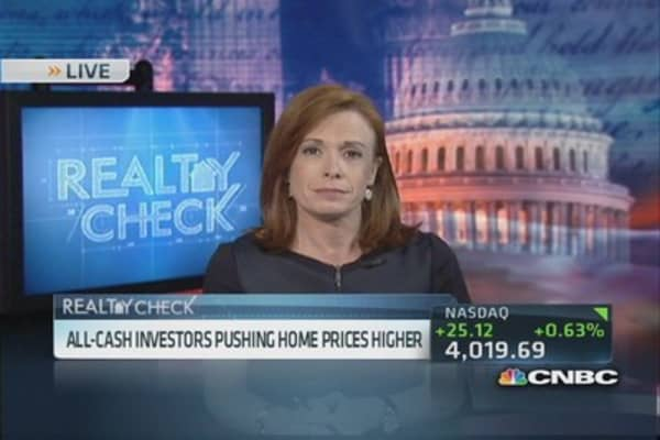 Cash investors pushing home prices