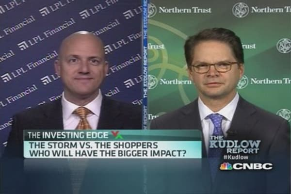 Holiday storm vs. holiday shoppers
