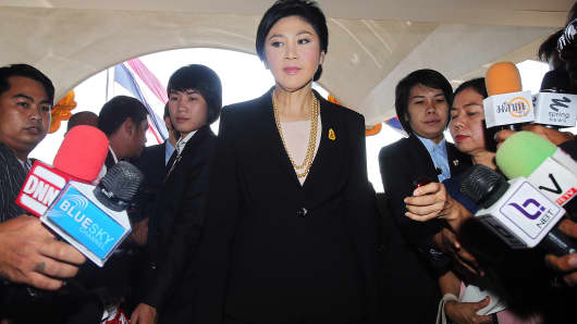 Yingluck Shinawatra, Thailand's prime minister at Parliament House in Bangkok on Nov. 28, 2013.